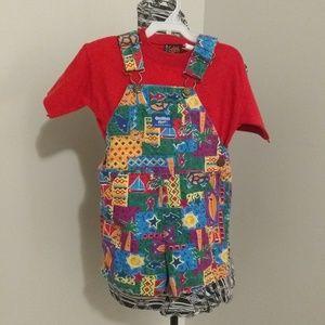OshKosh B'gosh vintage 80s overalls & shirt